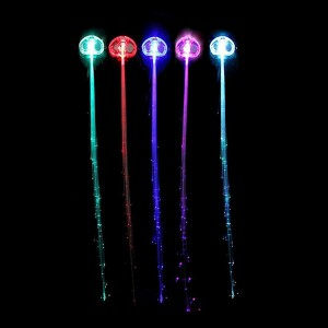 Cool Colorful LED Glowing Hairpin Hair Braid Extension for Party Club