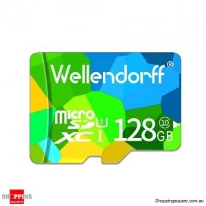 Wellendorff 128GB Class 10 MicroSDHC Memory Card with SD Card Adapter