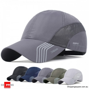 Men's Breathable Quick Dry Sunshade Mesh Baseball Hat Cap for Outdoor - Space Grey