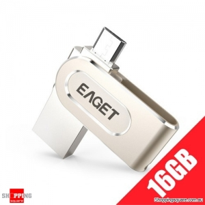 EAGET V88 2 in 1 OTG USB Flash Drive with Micro USB and USB 3.0 Connectors - 16GB