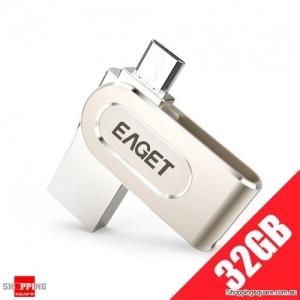 EAGETV88  Micro USB Flash Drive 64G Pendrive 64GB 32G 16G USB 3.0 Flash Disk Pen Drive OTG Metal Stick 2 In 1 For Xiaomi Phone P