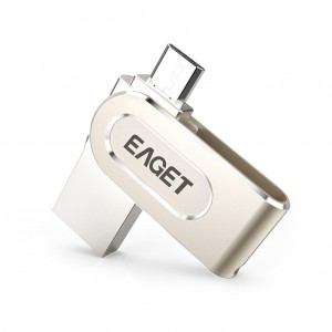 EAGET V88 2 in 1 OTG USB Flash Drive with Micro USB and USB 3.0 Connectors - 64GB