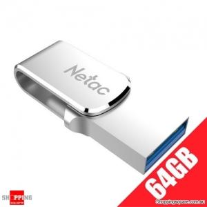 Netac U780C 64GB 2 in 1 OTG USB Flash Drive with Type-C & USB 3.0 Connectors