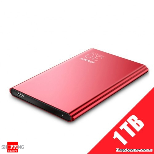 "EAGET G70 1TB Portable 2.5"" USB 3.1 Type-C External Hard Drive Disk - Red"