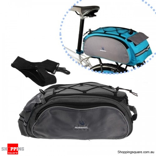Roswheel Bike Bicycle Rear Seat Tail Bag Pannier Double Sides-Black -  Shoppingsquare Australia