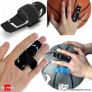 Basketball Finger Support Splint Protector Bandage Pain Relief adjustable strap-Black