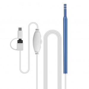3 in 1 6LEDs 1.3MP Ear Pick Spoon Endoscope