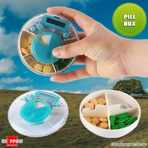 Intelligent Digital Timing Alarm Pill Medicine Organizer Reminder Case Box
