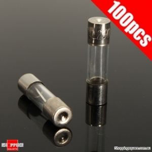 100Pcs 5x20mm 0.2A-20A Quick Blow Glass Tube Fuse Assorted Kit Fast-blowing Glass Fuses