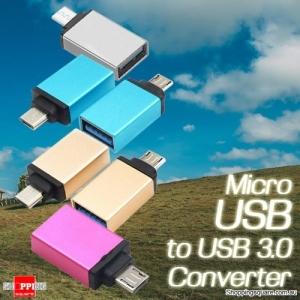 Aluminium Alloy Micro USB to USB OTG Adapter - Random Color
