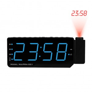 """7"""" Digital LED Projection Alarm Clock with FM Radio & Thermometer Blue Colour"""