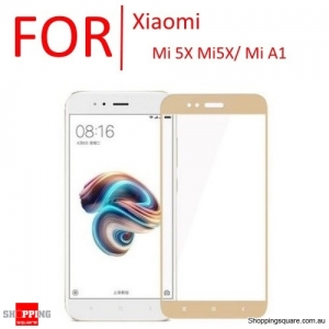 9H Anti-Scratch Full Cover Tempered Glass Screen Protector Cover for Xiaomi Mi 5X Mi5X / Mi A1-Gold