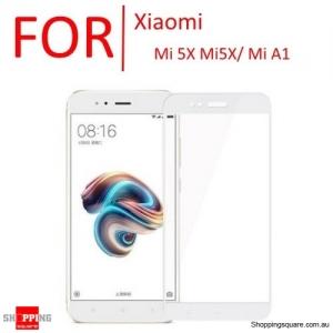 9H Anti-Scratch Full Cover Tempered Glass Screen Protector Cover for Xiaomi Mi 5X Mi5X / Mi A1-White