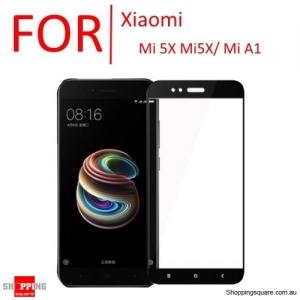 9H Anti-Scratch Full Cover Tempered Glass Screen Protector Cover for Xiaomi Mi 5X Mi5X / Mi A1-Black