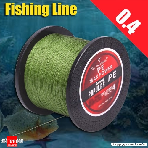300M Multifilament PE Spectra Braided Fishing Line -Green-0.4