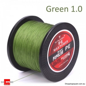 300M Multifilament PE Spectra Braided Fishing Line -Green-1.0