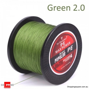 300M Multifilament PE Spectra Braided Fishing Line -Green-2.0
