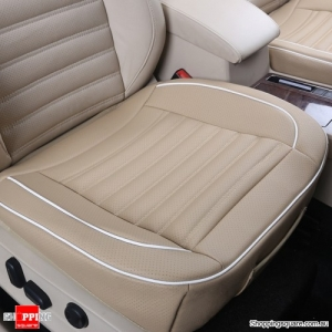 50x50cm PU Leather Car Cushion Seat Chair Cover Beige