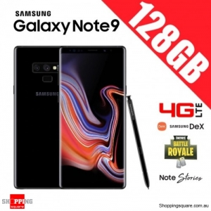 Samsung Galaxy Note 9 128GB 4G LTE Dual Sim Unlocked Smart Phone Midnight Black