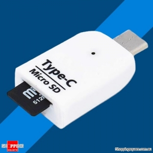 Universal USB 3.1 Type-C to Micro SD Memory Card Reader Adapter for Mobile Phone-White