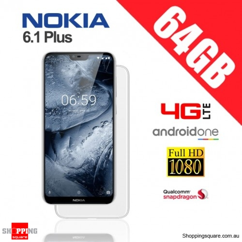 Nokia 6.1 Plus 64GB TA-1116 4G LTE Dual Sim Unlocked Smart Phone White