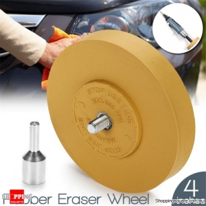 Rubber Eraser Wheel Pneumatic Tools Air Tire Buffer Glue remove sticker for Electric Drill