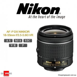 Nikon AF-P DX NIKKOR 18-55mm f/3.5-5.6G VR Digital Camera DSLR Lens Black