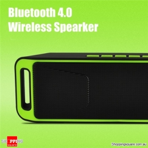Portable Bluetooth 4.0 Mini Wireless Stereo Speaker with Mega Bass For Android iPhone -Green
