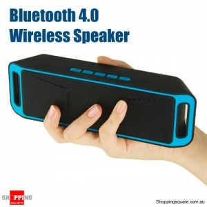 Portable Bluetooth 4.0 Mini Wireless Stereo Speaker with Mega Bass For Android iPhone - Blue
