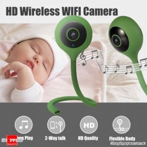 Mini Bendable 720P 2.1mm Wireless WIFI Smart Home IP Camera Baby Monitor - Green