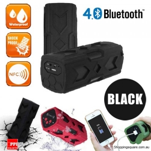 Portable USB NFC AUX Bluetooth 4.0 Wireless Waterproof  Bass Subwoofer Speaker-Black