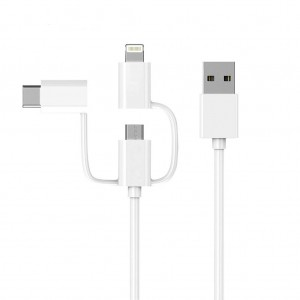 Xiaomi 3 in 1 Lightning Charging & Data Sync Cable with Type-C/Micro USB Connector