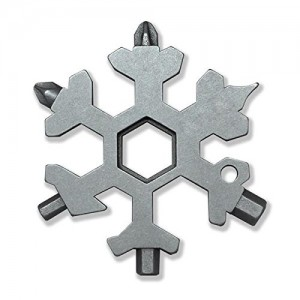 15 in 1 Stainless Steel Snowflake Multi-tool Keychain Screwdriver Bottle Opener for Outdoor Camping