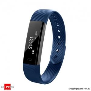 ID115HR Smart Watch Bracelet Fitness Heart Rate Tracker - Navy