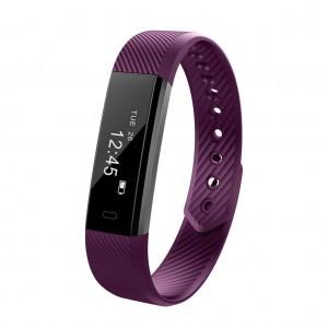 ID115HR Smart Watch Bracelet Fitness Heart Rate Tracker - Purple