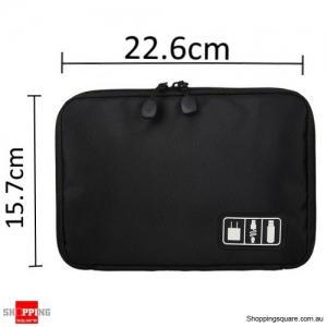 Storage Bag Travel Organizer Bag for Digital Accessories Cables Black Colour