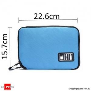 Storage Bag Travel Organizer Bag for Digital Accessories Cables Blue Colour