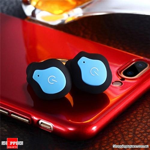 Bluetooth 4.2 Wireless Mini Stealth Portable Concise Waterproof Earphone earbud - Blue