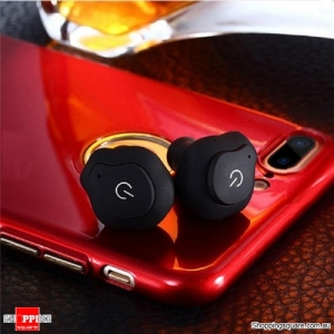 Bluetooth 4.2 Wireless Mini Stealth Portable Concise Waterproof Earphone earbud - Black