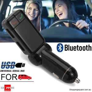 Bluetooth Wireless Hands Free Car Kit Charger Adapter Transmitter for MP3 FM with Dual USB Slots for iPhone Android