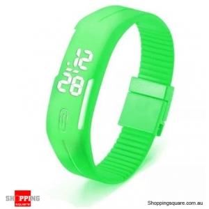 Casual Digital LED Rectangle Sport Digital Bracelet Wrist Watch Buckle - Mint Green