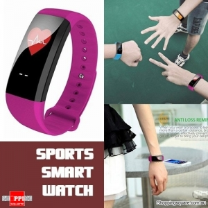 Waterproof M99 Smart Bracelet Watch for Heart Rate Blood Pressure Oxygen Anti Lost Watch Purple