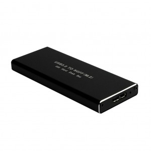 USB 3.0 to M.2 NGFF External SSD Hard Disk Drive Enclosure - Black