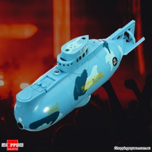 6CH Speed Remote Controlled Radio Electric Mini RC Submarine Boat Equipment - Blue
