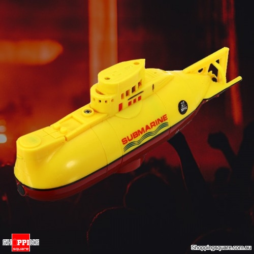 6CH Speed Remote Controlled Radio Electric Mini RC Submarine Boat Equipment - Yellow