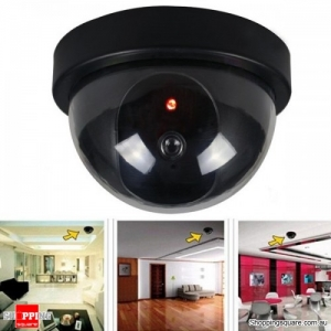 Dome Fake CCTV Outdoor Camera Dummy Simulation Security Surveillance LED Blinking Light