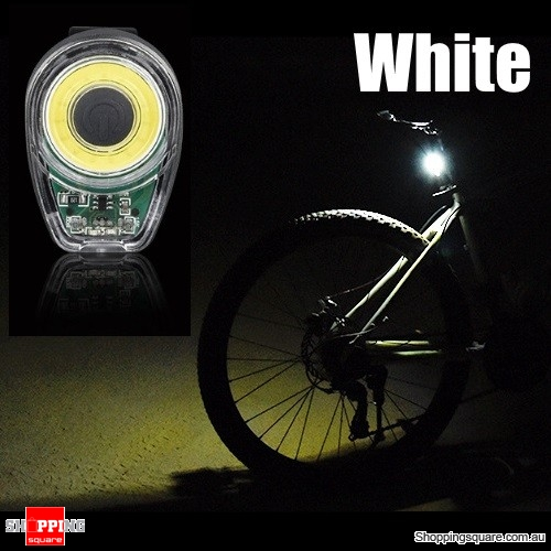 USB Charging Bike Tail Light LED MTB Round Rear Back Safety Lantern Mountain bike - White