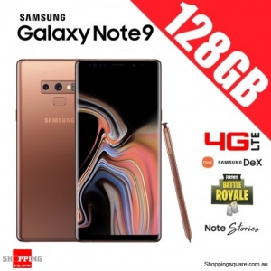 Samsung Galaxy Note 9 128GB 4G LTE Dual Sim Unlocked Smart Phone Metallic Cooper