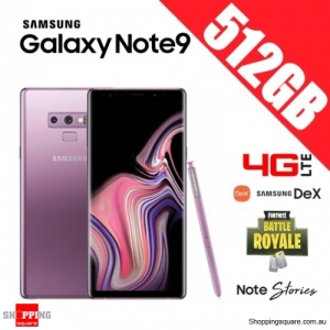 Samsung Galaxy Note 9 512GB 4G LTE Dual Sim Unlocked Smart Phone Lavender Purple