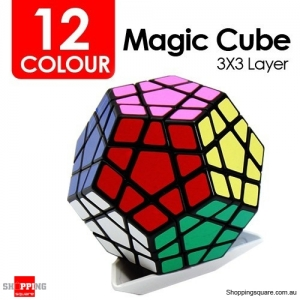 12-Sided 3X3-Layer Megaminx Pentagonal Dodecahedron Magic Cube Educational Device